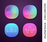 sound waves app icons set....