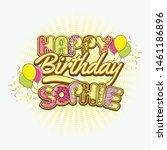 happy birthday greetings for... | Shutterstock .eps vector #1461186896