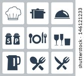 vector isolated tableware icons ... | Shutterstock .eps vector #146121233