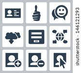 vector social network icons set | Shutterstock .eps vector #146121293