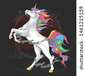 unicorn horse full colour... | Shutterstock .eps vector #1461215159
