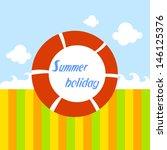 summer holiday red float   Shutterstock .eps vector #146125376