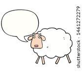 cartoon sheep with speech bubble | Shutterstock . vector #1461272279