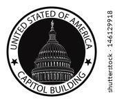 capitol building hand drawn...   Shutterstock .eps vector #146129918