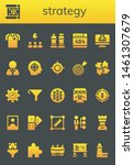 strategy icon set. 26 filled... | Shutterstock .eps vector #1461307679