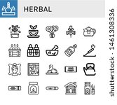 set of herbal icons such as... | Shutterstock .eps vector #1461308336
