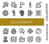 set of geography icons such as... | Shutterstock .eps vector #1461309449
