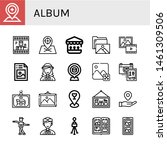 set of album icons such as... | Shutterstock .eps vector #1461309506