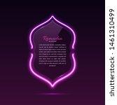 glass banner arabic style.... | Shutterstock .eps vector #1461310499