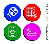 set of recreation icons such as ... | Shutterstock .eps vector #1461311189