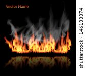 illustration of burning fire... | Shutterstock .eps vector #146133374