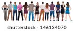 back view group of people ... | Shutterstock . vector #146134070