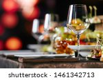 table setting with snacks and... | Shutterstock . vector #1461342713