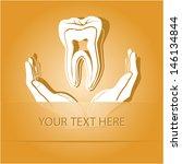 health in hands. paper sticker... | Shutterstock .eps vector #146134844