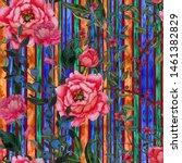 watercolor seamless pattern...   Shutterstock . vector #1461382829