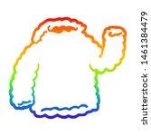 rainbow gradient line drawing... | Shutterstock . vector #1461384479