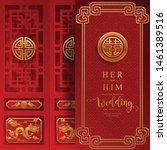 chinese oriental wedding... | Shutterstock .eps vector #1461389516
