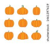 cartoon halloween pumpkin set.... | Shutterstock .eps vector #1461397619