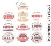 collection of summer sales... | Shutterstock . vector #146141078