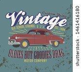 vintage  custom build. old... | Shutterstock .eps vector #1461416180
