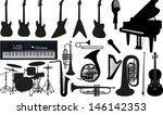 music instruments | Shutterstock .eps vector #146142353