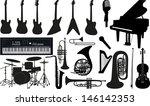music instruments | Shutterstock .eps vector #146142353