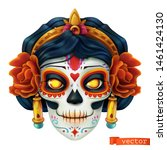 day of the dead. dia de los... | Shutterstock .eps vector #1461424130
