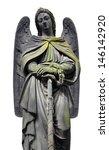 Sculpture Of Angel At A Prague...