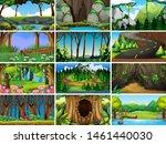 empty  blank landscape nature... | Shutterstock .eps vector #1461440030