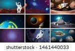 large set of space scenes...   Shutterstock .eps vector #1461440033