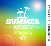summer sunrise hawaii journey...   Shutterstock .eps vector #146144726