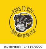 Mokey Gorilla Biker Logo...