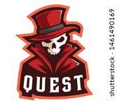 skull quest e sports logo   Shutterstock . vector #1461490169