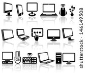 computer vector icons set. eps... | Shutterstock .eps vector #146149508