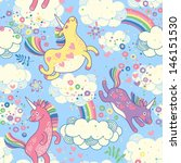 cute seamless pattern with... | Shutterstock .eps vector #146151530