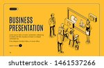 business presentation isometric ... | Shutterstock .eps vector #1461537266