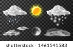 weather meteo icons realistic... | Shutterstock .eps vector #1461541583