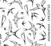 flying birds seamless pattern | Shutterstock .eps vector #146154710