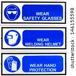 Blue Safety Signs Broad