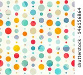 Stock vector colored circle seamless pattern 146156864