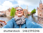 Young Woman Tourist Is Having...