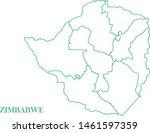 zimbabwe green line map vector | Shutterstock .eps vector #1461597359