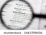 Small photo of Word or phrase Blackball in a dictionary