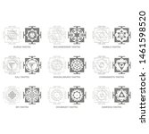 vector icon with yantra...   Shutterstock .eps vector #1461598520