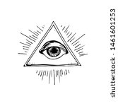 triangle eye symbol. hand drawn ...   Shutterstock .eps vector #1461601253