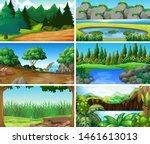 empty  blank landscape nature...   Shutterstock .eps vector #1461613013