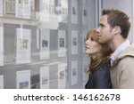 side view of a young couple... | Shutterstock . vector #146162678