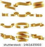 gold ribbon set inisolated... | Shutterstock .eps vector #1461635003