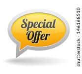 yellow special offer speech... | Shutterstock .eps vector #146168510