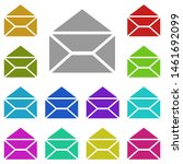 opened envelope multi color...